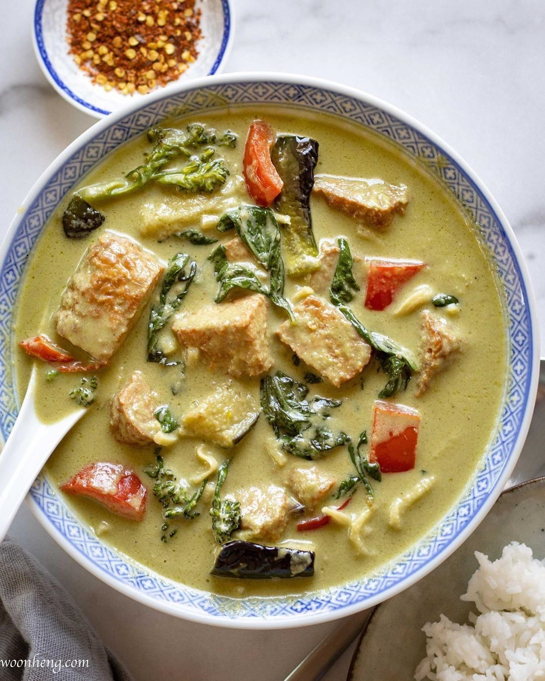 thai green curry with homemade paste display image  2b3542d4