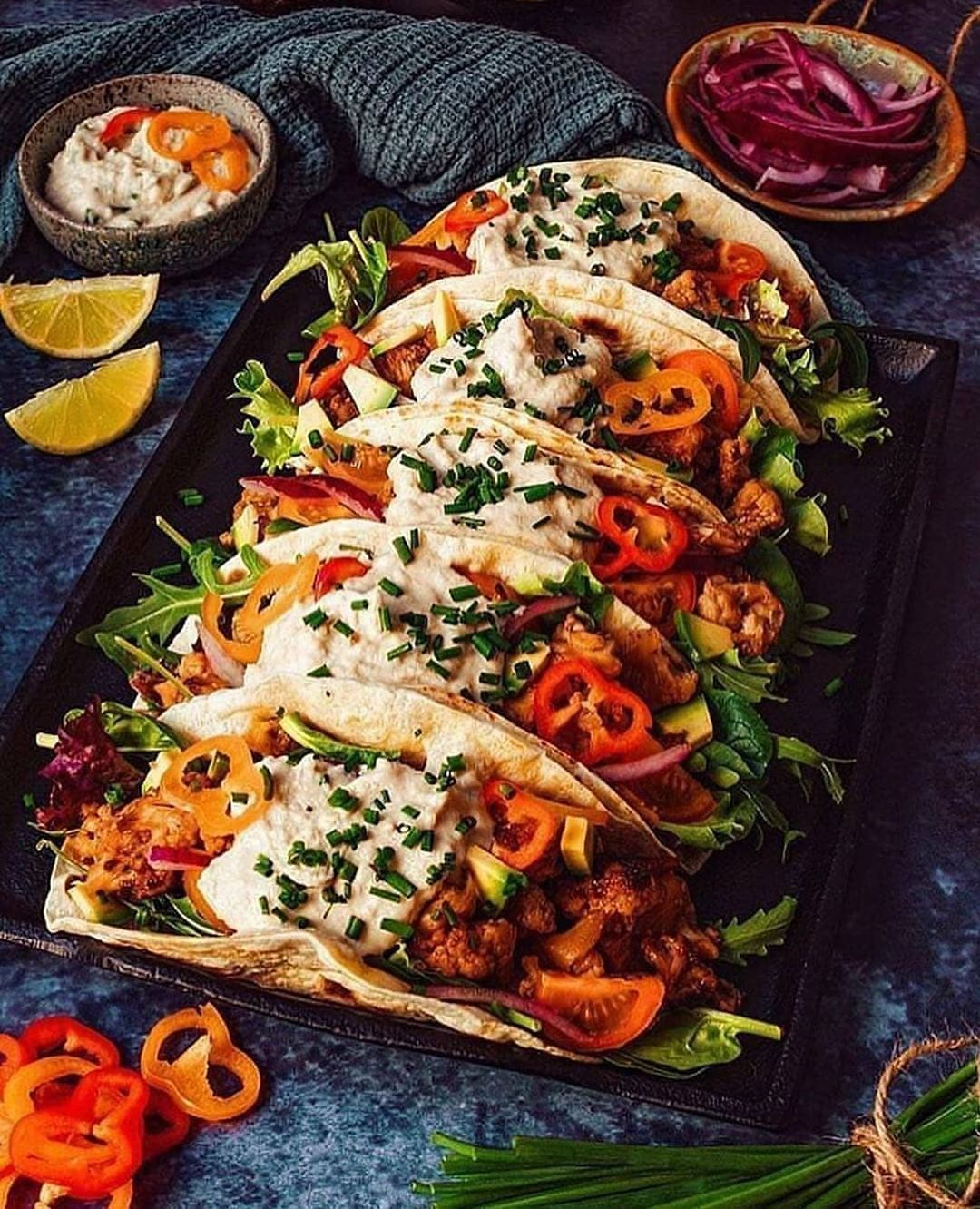 bbq cauliflower tacos looks so delicious what do you thin display image  0205af39