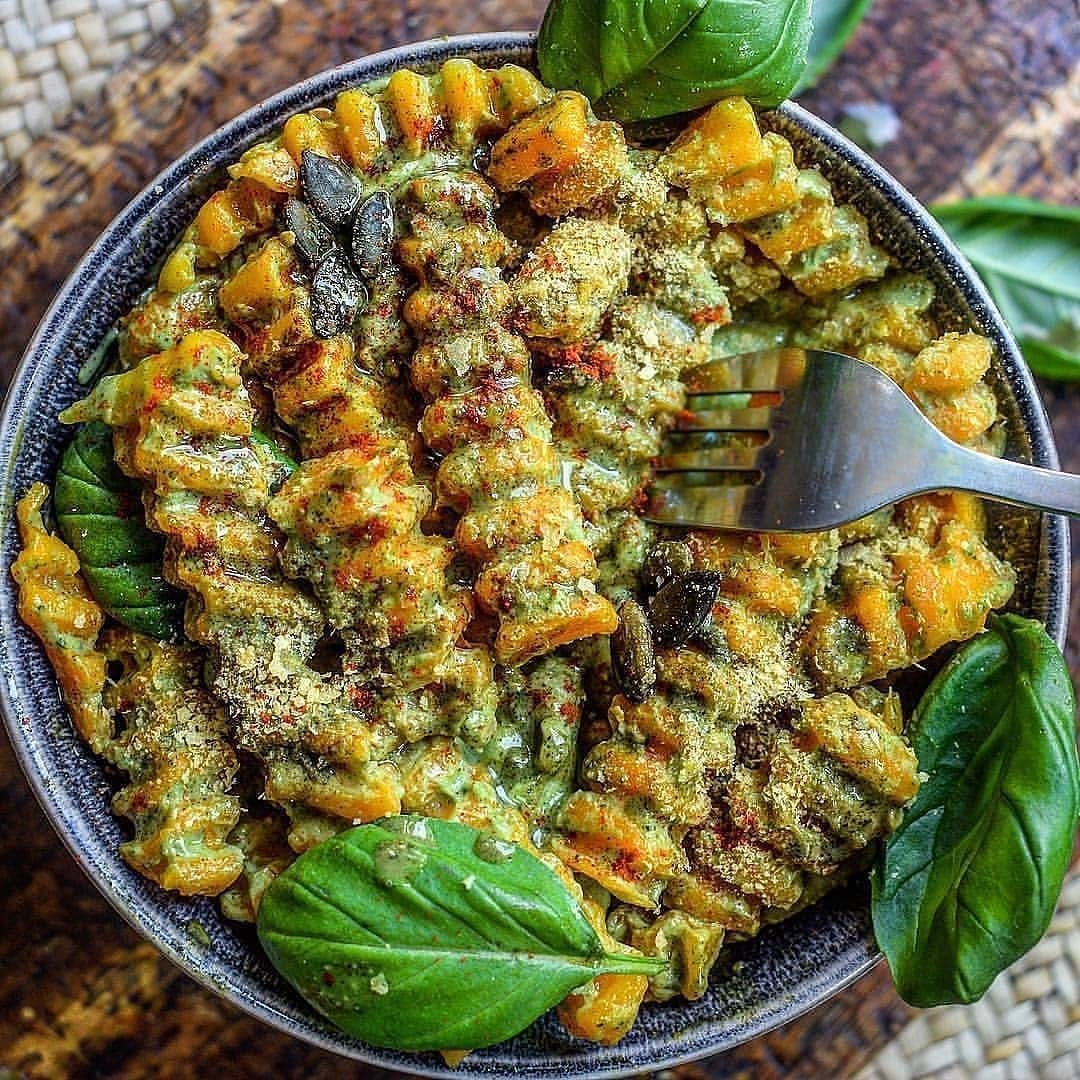 butternut squash fusilli with avocado and pumpkin seed butte display image  037fcf48