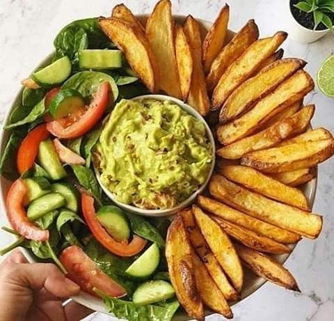 oven baked crispy fries & guacamole by veganbyeden display image  95008b2a