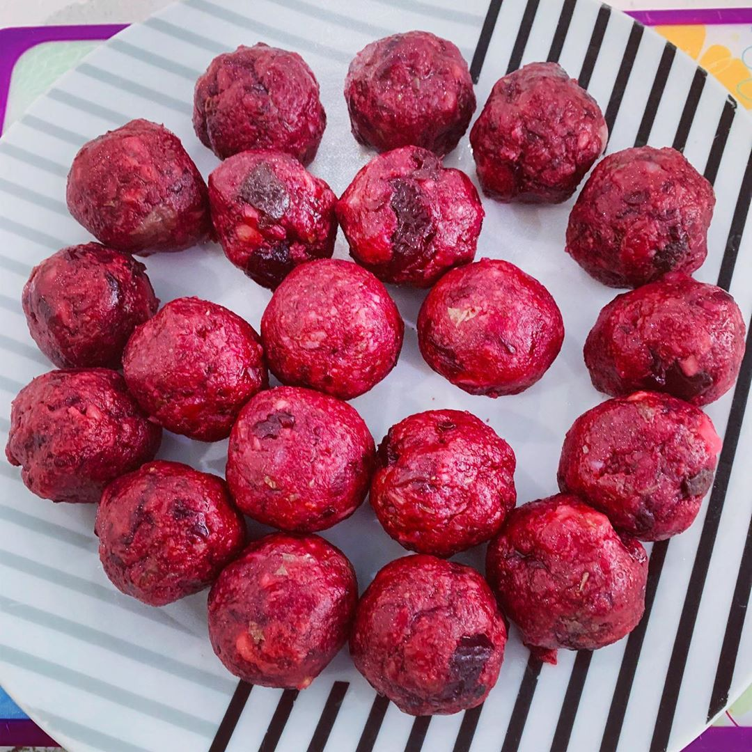 beetroot & paneer kofta rolled and ready for dinner display image  4523f810