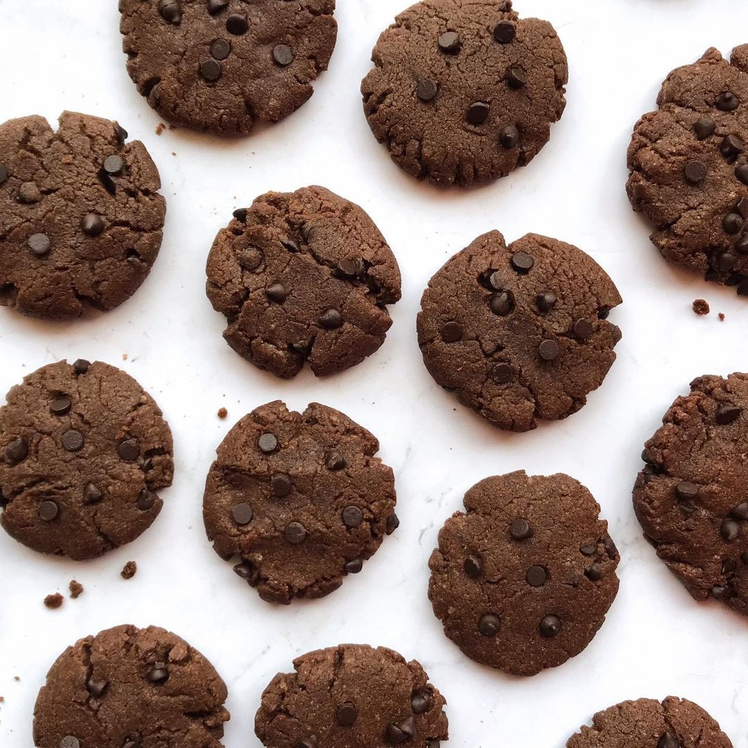 double choco chip cookies display image  bfd244d3