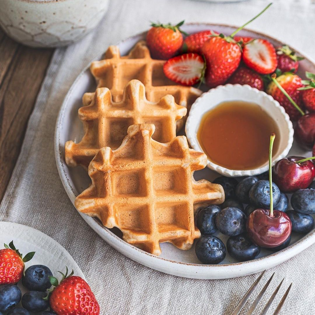 oh these golden crispy vegan gluten free waffles from 365cl display image  a6bd051c