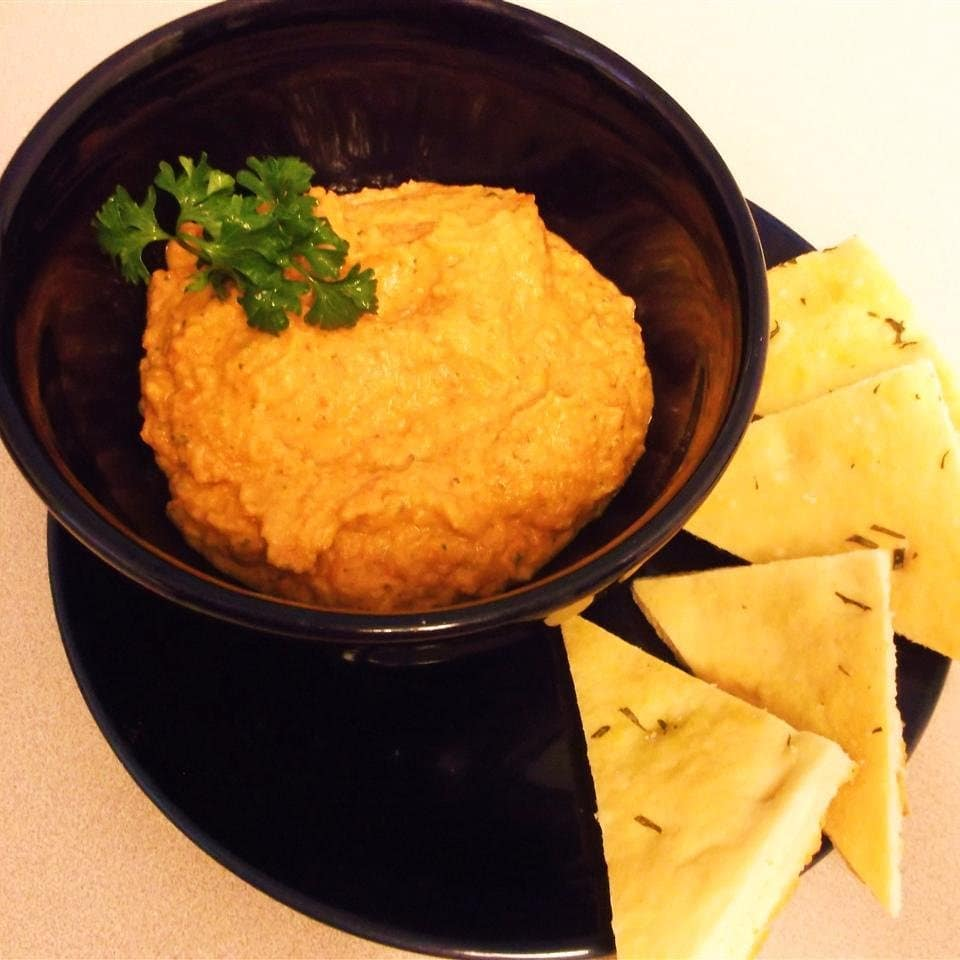 spiced sweet roasted red pepper hummus display image  ed2f9bf9
