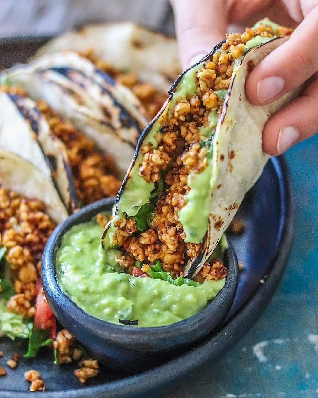 tempeh spicy mexican tacos display image  8707610c