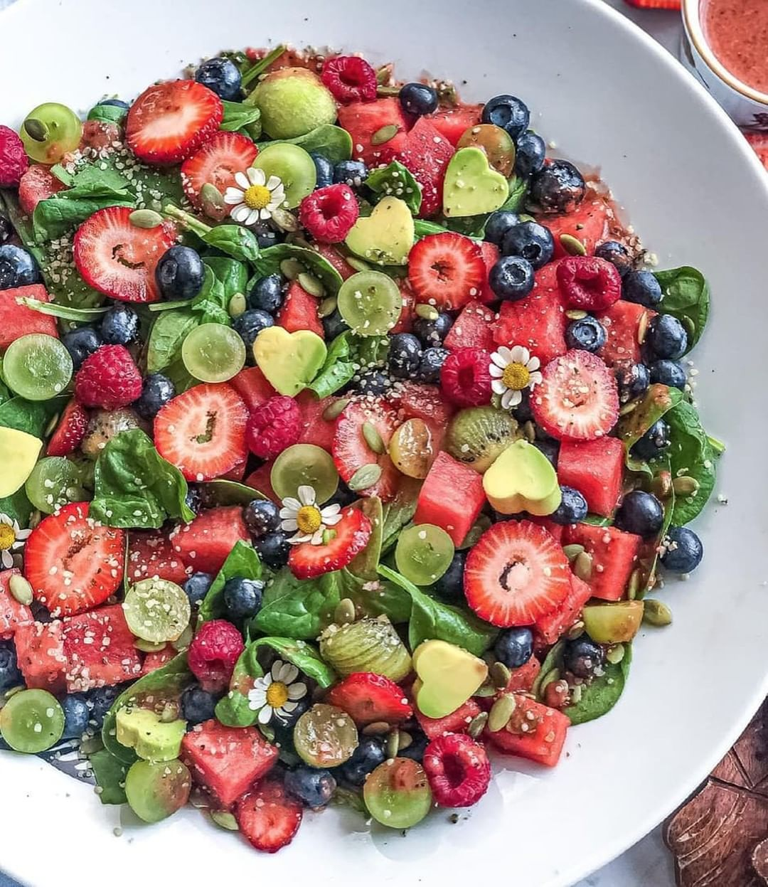 make this antioxidant rich fruity summer spinach salad display image  c5d7aff3