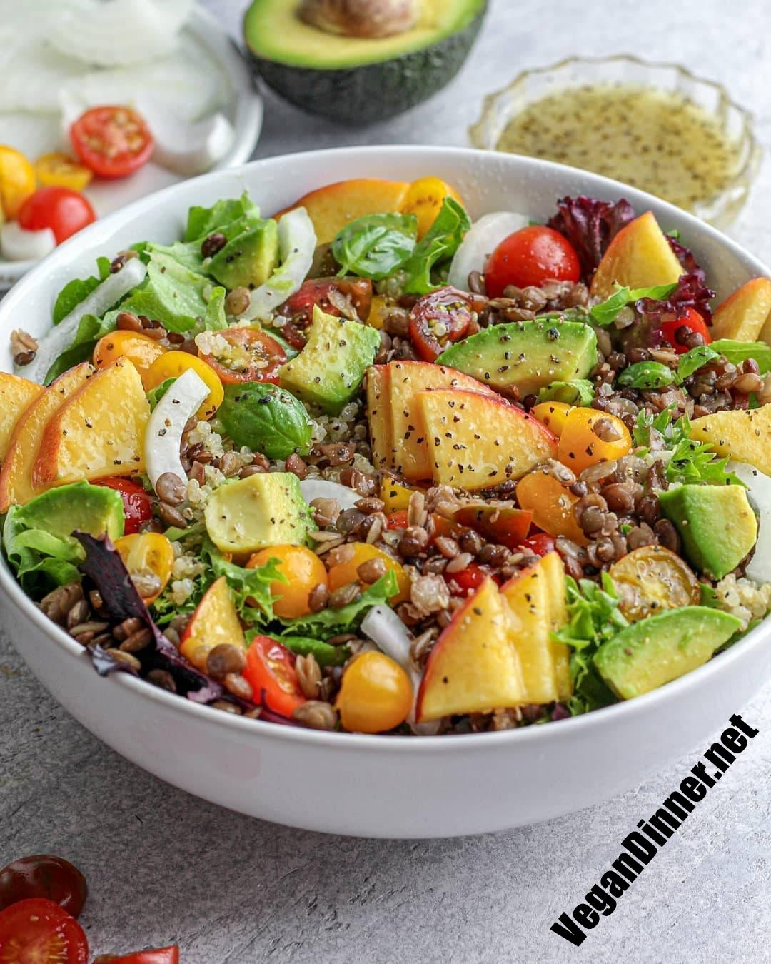have you tried this peach & avocado salad with quinoa lenti display image dfff