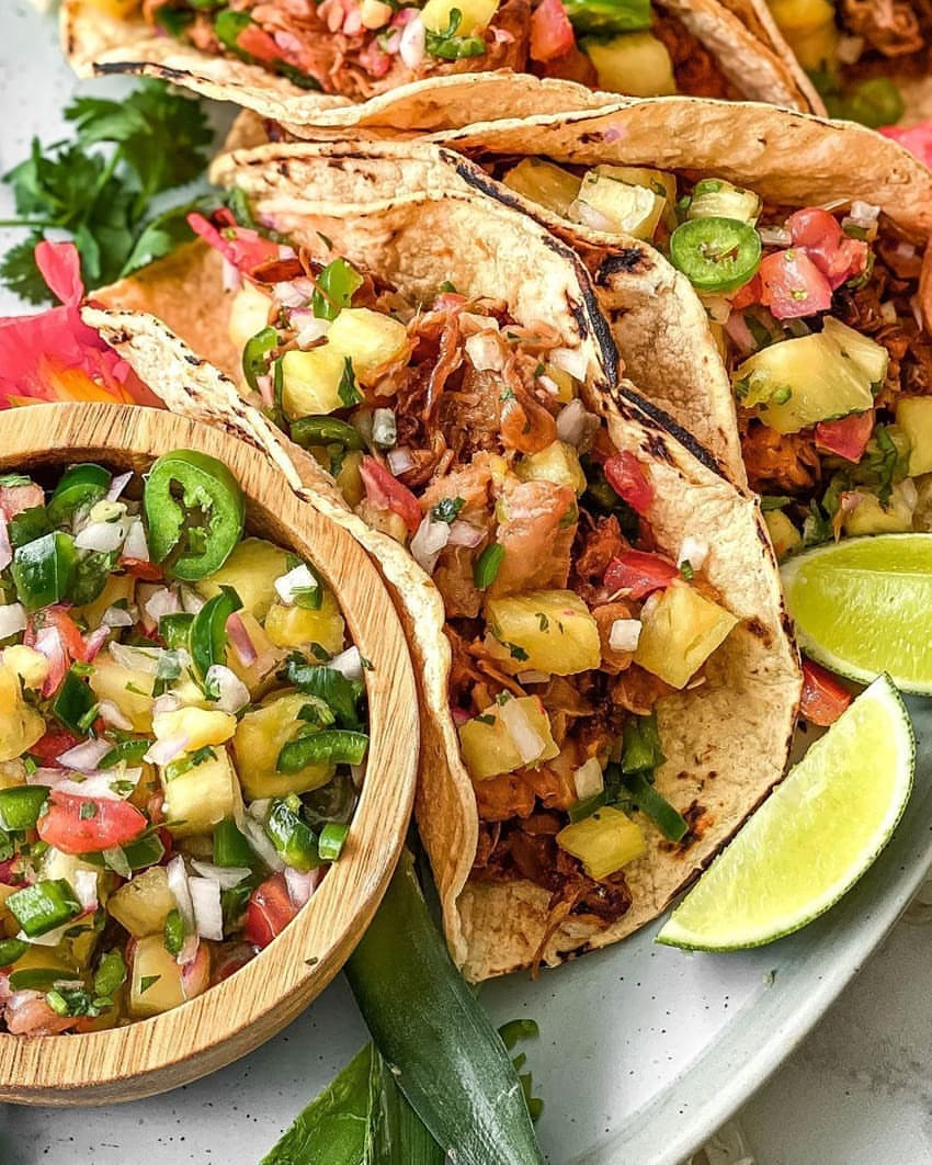 love tacos check out these teriyaki jackfruit tacos and home display image a