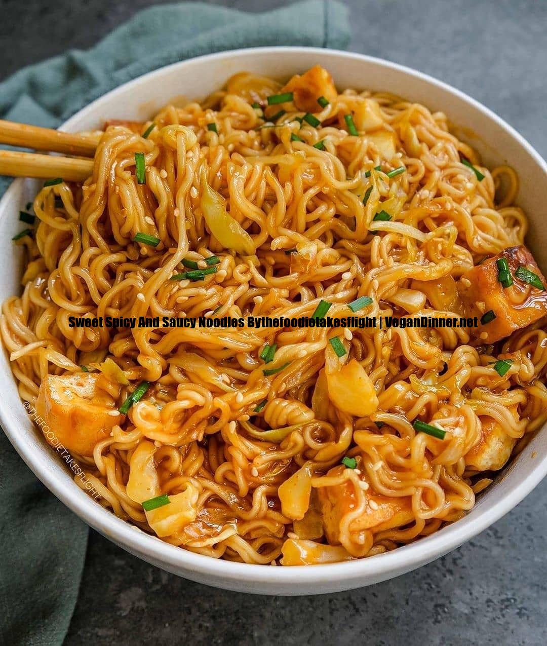 sweet spicy and saucy noodles bythefoodietakesflight display image cb