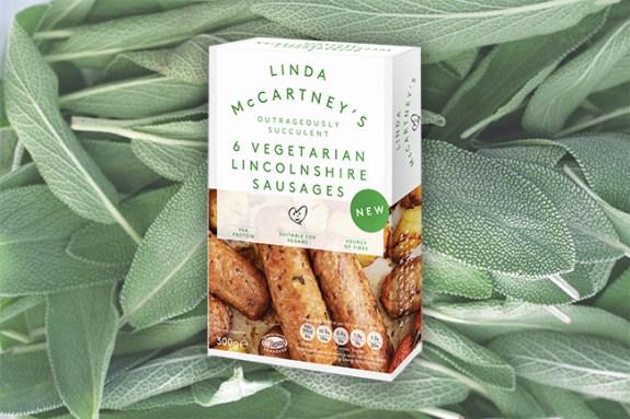 Linda McCartney's Lincolnshire sausages