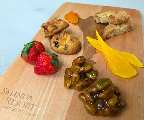 Salinda Resort vegan snacks