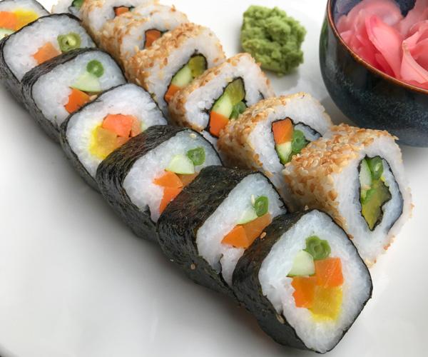 Salinda Resort vegan sushi