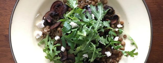 French Lentils and Balsamic Mushrooms | Vegan