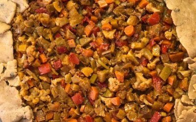 Free-Form Moroccan-Spiced Roasted Vegetable Tart