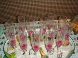 Champagne glasses with fresh pomoegrante juice and seeds - where's the Persecco