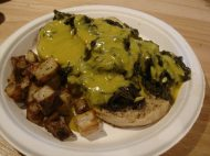 Main Street Vegan - English Muffins with Hollandaise