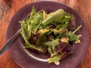 Mixed Greens with Cranberries, Almonds, and Avocado Dressing