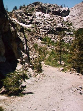 Original road over Donner Pass Photo by C.N. Plummer
