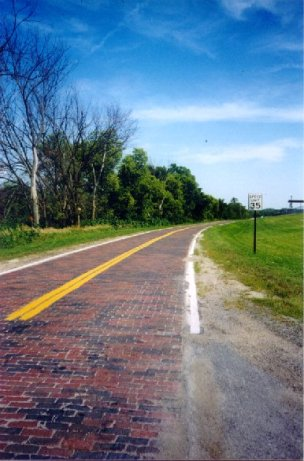 Historic brick paving near Elkhorn Photo by Bob Stubblefield