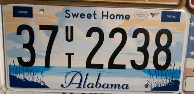 American Addicted: license plates Alabama