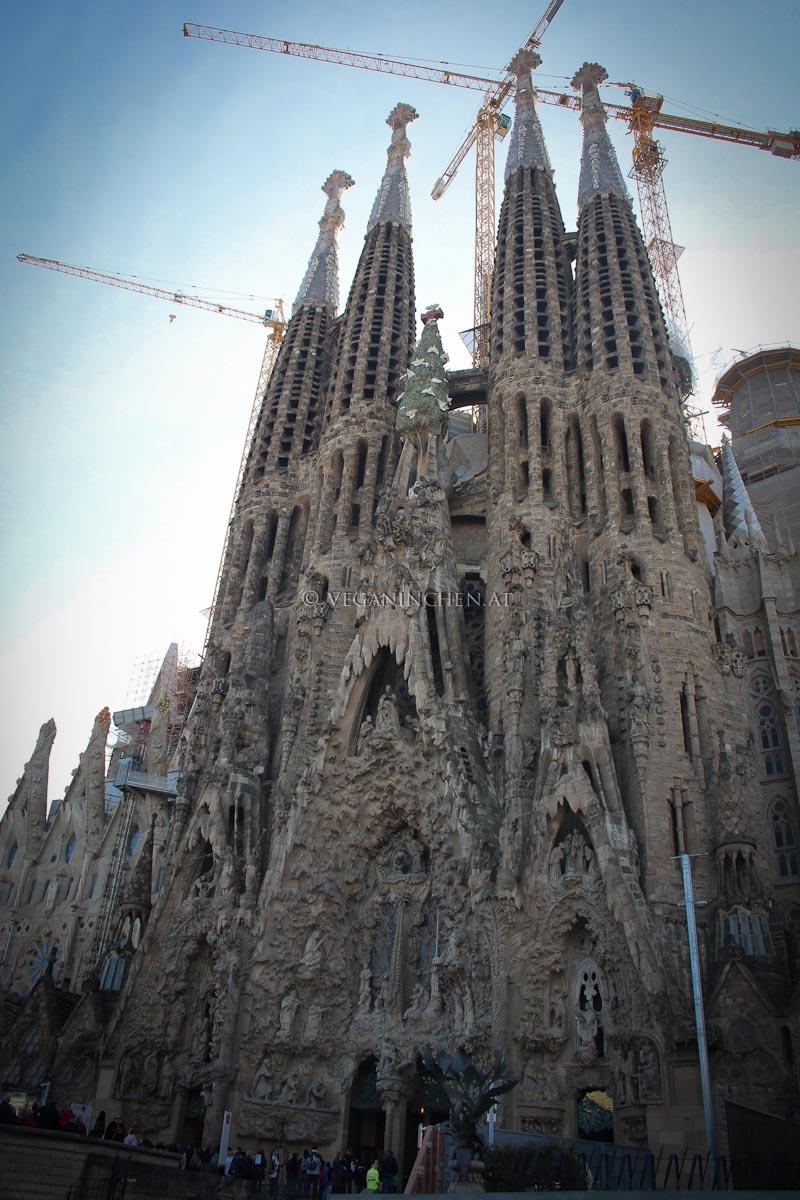 Sagrada Familia Barcelona veganinchen