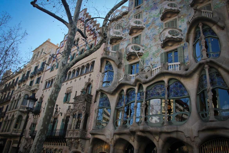 Casa Batlló Gaudi Barcelona veganinchen