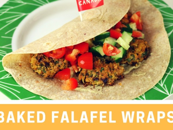 Baked Falafel Wraps Recipe