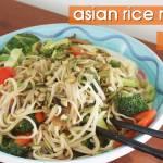 Asian rice noodle salad for a fresh & filling vegan summer meal