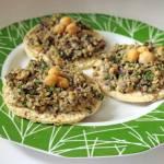 Chickpea sage crostini recipe (chickpea bruschetta)