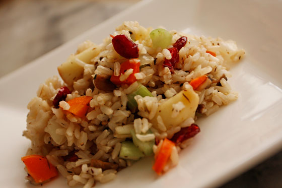 Cranberry-Thyme Brown Rice Stuffing | Vegan Holiday Recipe