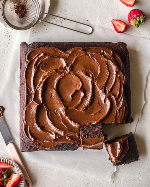 Vegan Beetroot Brownies with Chocolate Avocado Frosting on Rainbow Nourishments