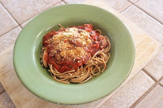 Easy Vegan Spaghetti Bolognese from the College Vegan Cookbook