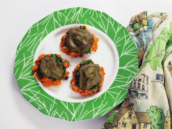 Vegan sweet potato nests - savory holiday brunch recipe