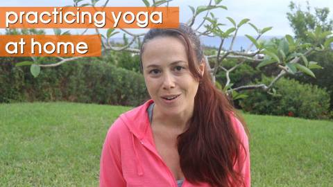 Why I love doing yoga at home