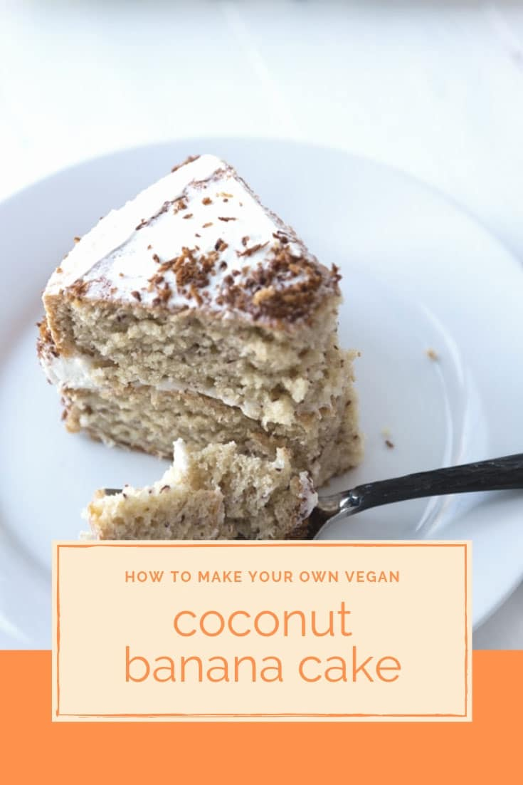 Coconut Banana Cake   Vegan Recipe   Veganosity A delicious and festive coconut banana cake  Perfect for any occasion   www veganosity