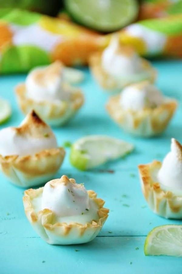 Vegan Lime Tarts with Meringue