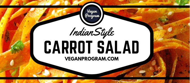 Indian-style carrot salad header veganprogram