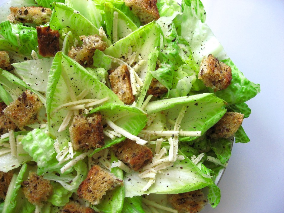 romaine and endive salad vegan veganprogram