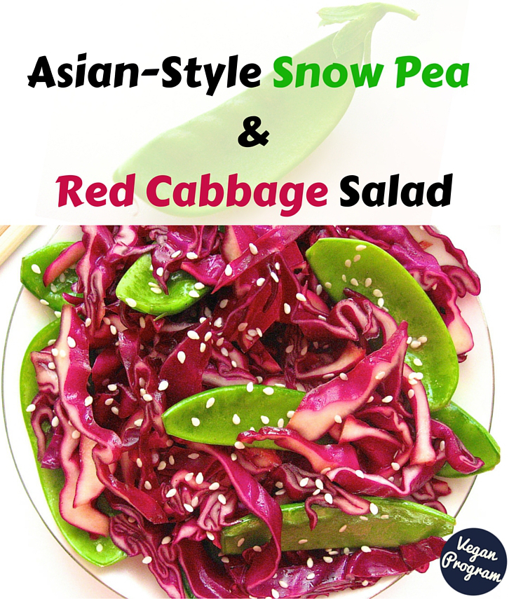 Asian-Style Snow Peas & Red Cabbage Salad veganprogram