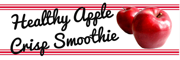 Healthy Apple Crisp Smoothie header veganprogram