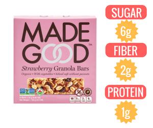 vegan granola Made Good Organic Strawberry Granola Bars veganprogram