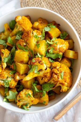 Baked Aloo Gobi Vegan Recipe - Indian Spiced Potato Cauliflower - Vegan  Richa