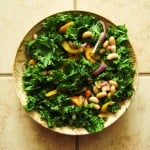 Vegan oil-free kale and cannellini bean salad recipe