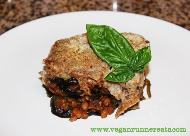 Vegan Greek Moussaka with Lentil-Tomato Sauce