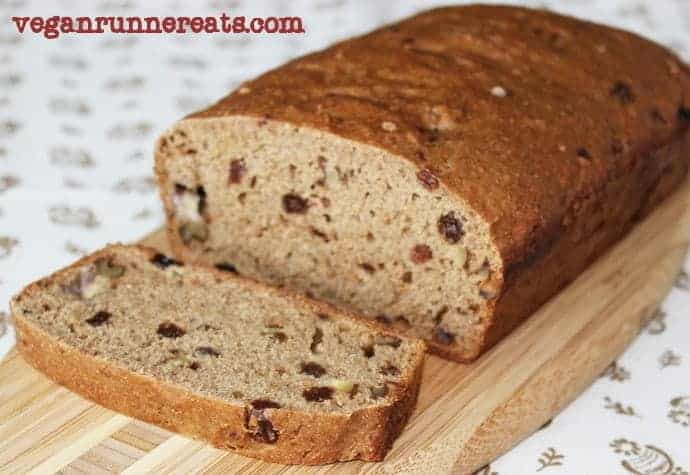 Healthy vegan banana nut bread recipe - an easy oil-free vegan banana bread that's perfect for plant-based diet. Made with walnuts and raisins for an extra burst of flavor and texture. Ready in 1 hour 15 min. | banana bread recipe | vegan banana bread | vegan banana walnut bread | plant-based diet banana bread | vegan baking recipes | vegan desserts | healthy baking | egg-free baking | vegetarian baking | #bananabread #veganbananabread #veganbaking #veganrecipes #veganfoodshare #vegan