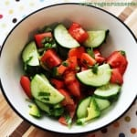 Easy cucumber-tomato salad