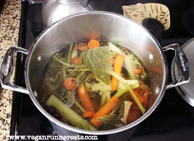 Broth after cooking