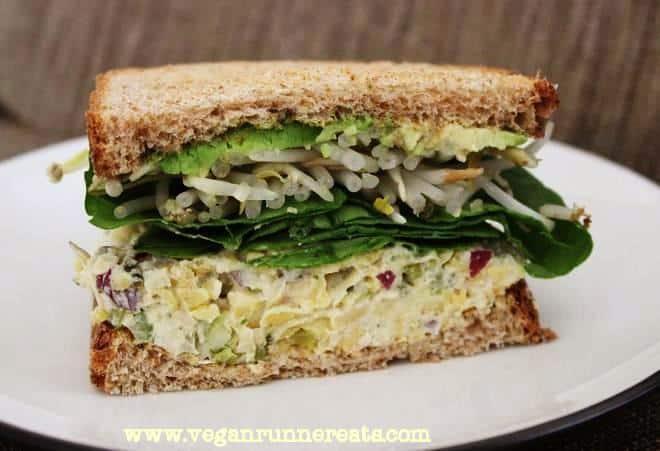 Chickpea salad sandwich recipe