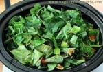 Vegan slow cooker Southern collard greens recipe