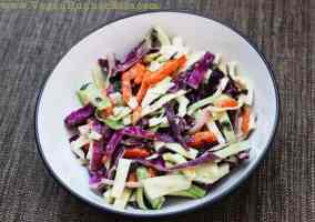 Asian-Style Cabbage Slaw with Vegan Peanut Dressing Recipe